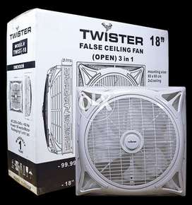 "Wholesale Twister 18"" 2x2 open 3in1 False Ceiling Fan"