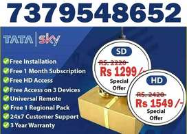 TATA SKY 1 MONTH RECHARGE FREE OFFER WITH BOX@1299-TATASKY DISH AIRTEL