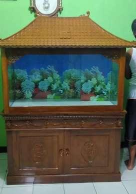 Aquarium joglo asli jati