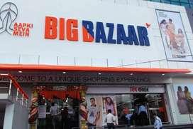 Latest job BIG BAZAAR Male/ Female Fresher 10th/12th Store keep14k*36k