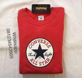 Sweater crewneck converse red