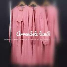 Baju dress menyusui soft pink