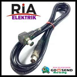 KABEL ANTENA TV 2M KITANI WITH JACK TV / COAXIAL CABLE MALE TO L MALE