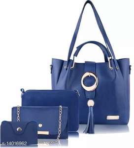 Leather hand bags combo