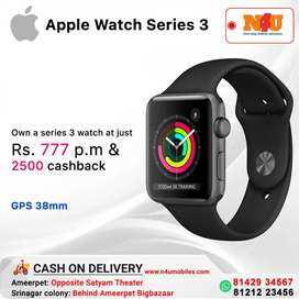 Apple series 3 watch 38 mm gps now available at justvRs777 per month