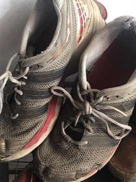 Sepatu Lari Tennis Olahraga Adidas Original Asli Merah Putih Ukuran 44