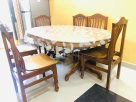 Teak wood Dining table well maintained