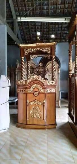 mimbar masjid kubah model baru new
