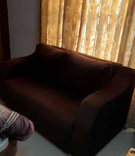 Brown Colored, Two Seater Sofa