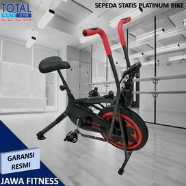 Sepeda statis fitness Tipe Platinum Bike I Sepeda 2 fungsi