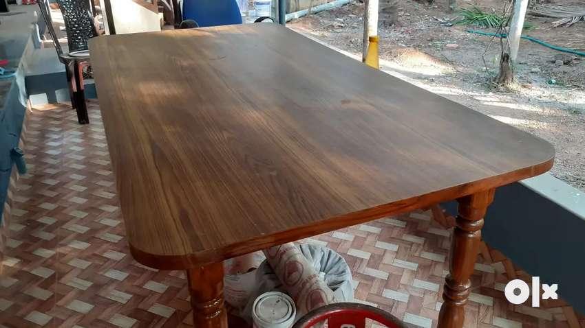 Teak wood 6 seater dining table