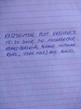 15-20 dhur plot required