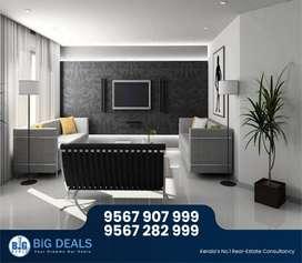 Branded 3 BHK Semi-Furnished Flat for rent  near Sarovaram, Calicut..