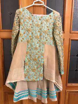 PFDC Short Frock with Bell Bottom