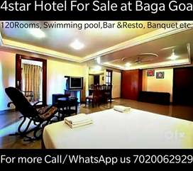120Rooms 4* Star hotel for Sale at Calangute Baga.