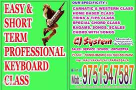 Short time keyboard classes in practical oriented