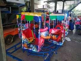 fiberplat mainan kereta panggung wisata odong komedi putar free DP