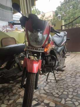 Tvs flame red colour single owner