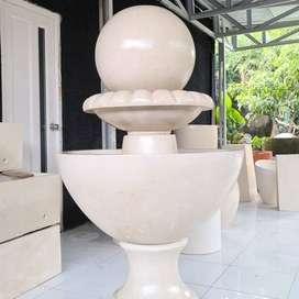 Air mancur Mewah glossy Terazzo Marmer Fountain