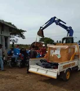 Jasa pindahan rental truk engkel CDE & mobil pick up bak losbak barang