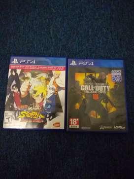 Kaset PS4, Naruto & COD Black OPS 4