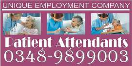 PATIENT ATTENDANTS available on 24/7 basis Fully Traind at The UNIQUE