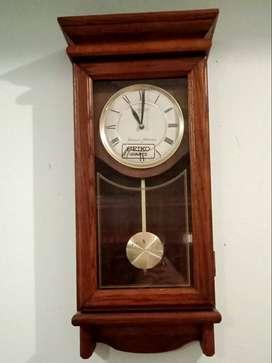 Seiko Quartz Wooden Wall Pendulum Clock - Jam Dinding Antik