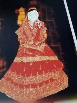 Only one time used bridal dress in good condition