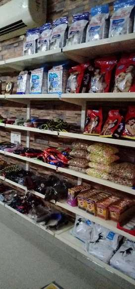 Dogs ,cats,birds and fish  foods available