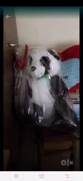Panda soft toy for disposal