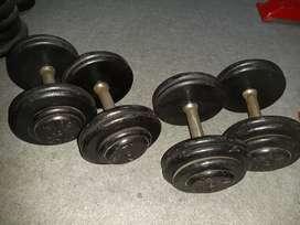 """Fitness, Dumbel, Fitnes,Dumbell Merk """"DELTA GYM"""" Dumble Barbell Barbel"""
