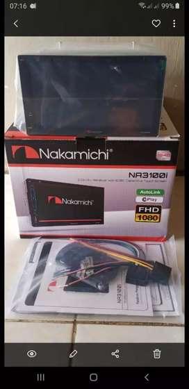 Double Din Nakamichi layar fullglass 7 inch, kamera mundur, pasang