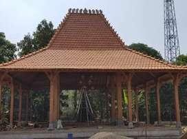 Pendopo Joglo Kayu Jati Ukir Tumpangsari Sokoutama20cm, Rumah Joglo