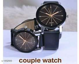 Fashionable trendy antique analog couple watches
