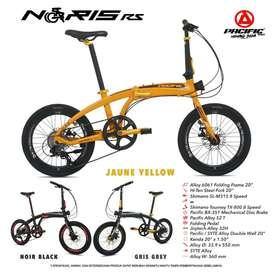 Sepeda Lipat 20 Pacific Noris RS Alloy 8 speed shimano banyak bonus