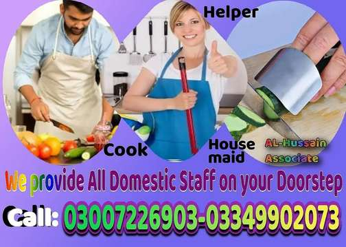 House staff available maids cooks driver helper