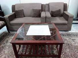 1 Seater And 2 Seater Sofa Set 1 Table
