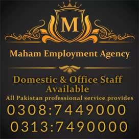 Maid's baby care housekeeping All Staff Available