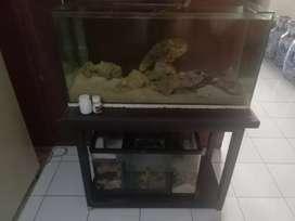 Jual aquarium bagus bisa buat laut dan juga tawar sum bawah lengkap j