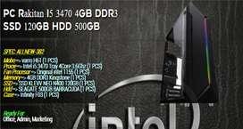 PC RAKITAN OFFICE I5 3470 | 120GB SSD | 4GB RAM | 500GB HDD