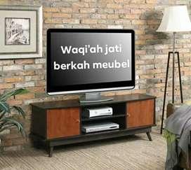 Bufet meja tv retro modern, P. 150cm, bahan kayu jati tua asli 100%