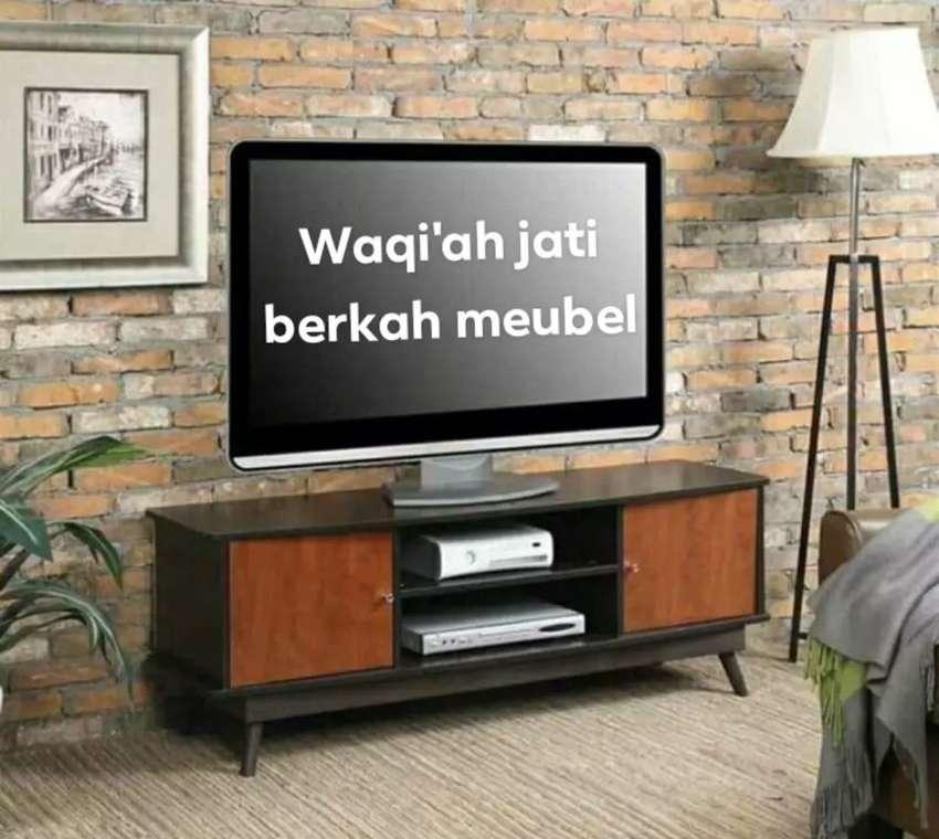 Bufet meja tv retro modern, P. 150cm, bahan kayu jati tua asli 100% 0