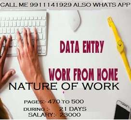 must home based job typing work
