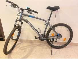 NEW! BTWIN Rockrider Mountain Bike ST100 - Grey/Blue 2 year warranty