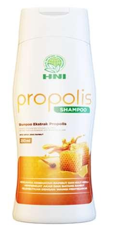 Kandungan ekstrak propolis pada shampoo,