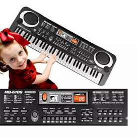 Digital Electronic Keyboard 61 Keys - MQ-6106 - Black