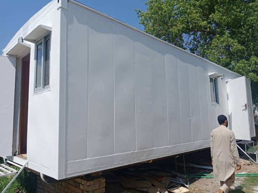 Portable shops office container porta cabin prefab IN peshawar 0