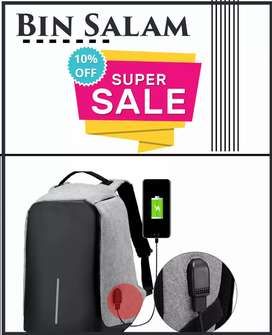 Anti theft bagpack for sale
