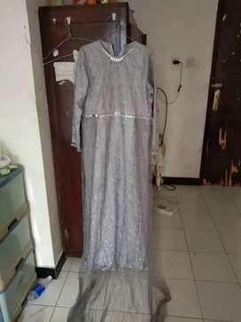 Dress Silver Tulle Payet Gliter