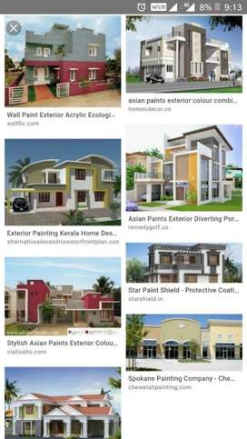 All types of Wall, House and Apartments painting in reasonable price